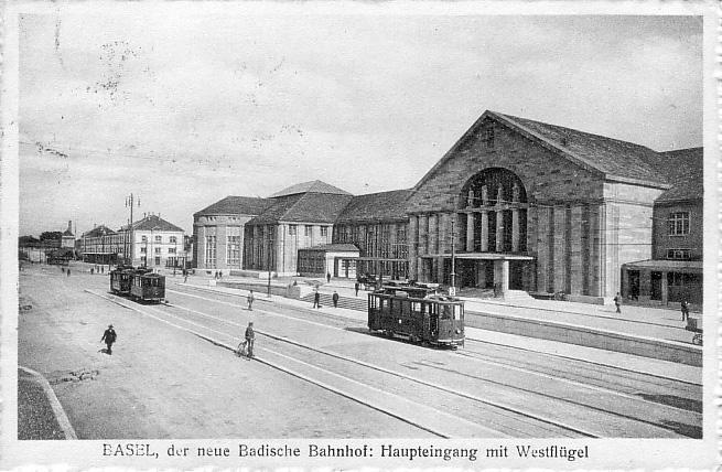 Neuer Badischer Bahnhof um 1916