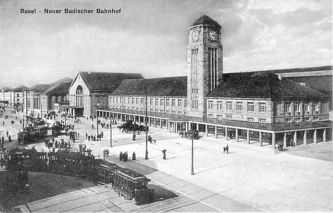 Neuer Badischer Bahnhof um 1915