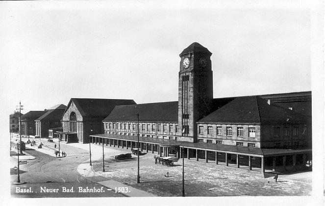 Neuer Badischer Bahnhof um 1918
