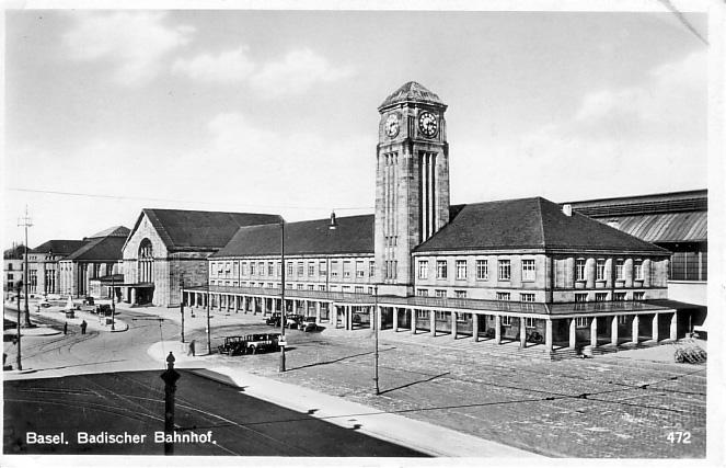 Neuer Badischer Bahnhof um 1920