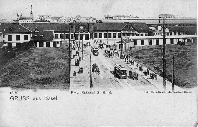 Provisorischer Bahnhof um 1902