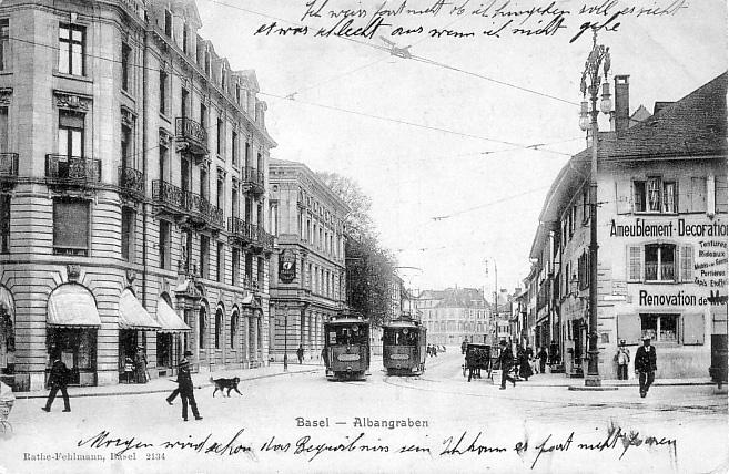 St. Alban-Graben um 1905