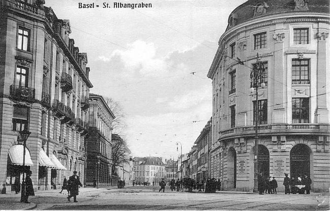 St-Alban-Graben um 1920
