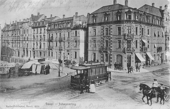 Burgfelderplatz um 1905
