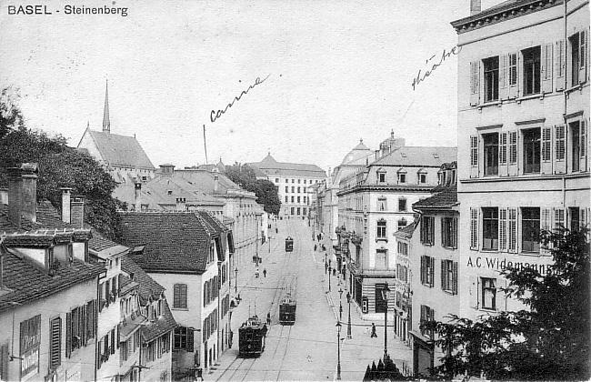 Steinenberg um 1915