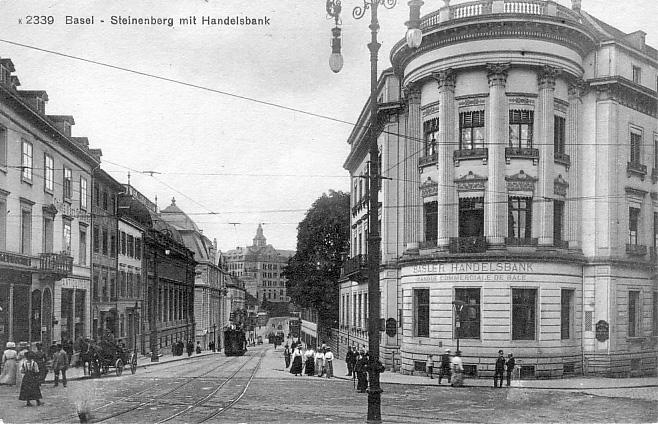 Steinenberg um 1910