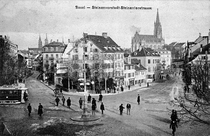 Steinentorstrasse um 1903