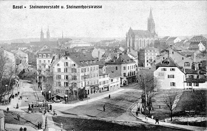 Steinentorstrasse um 1905