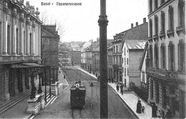 Theaterstrasse um 1904