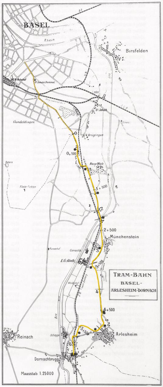 Streckenverlauf BEB