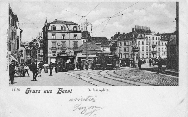Barfüsserplatz um 1900
