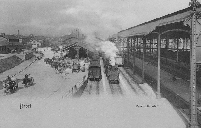 Provisorischer Bahnhof um 1903