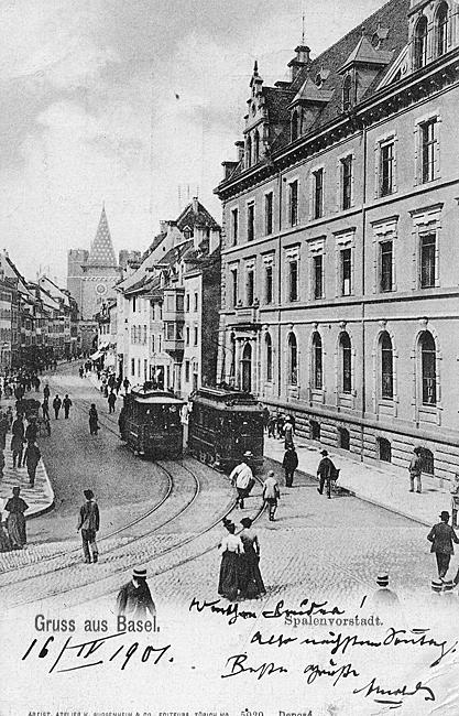 Spalenvorstadt um 1900