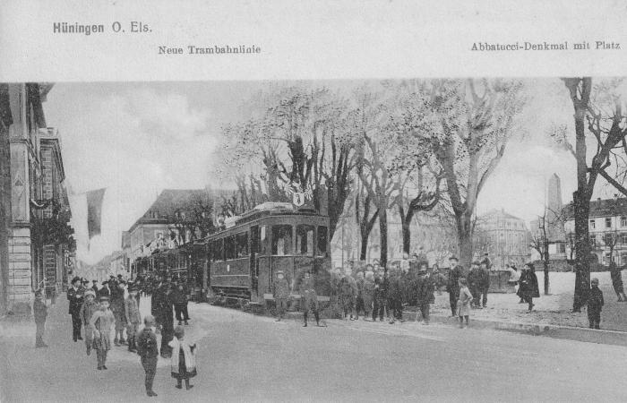 Neue Trambahnlinie 1910