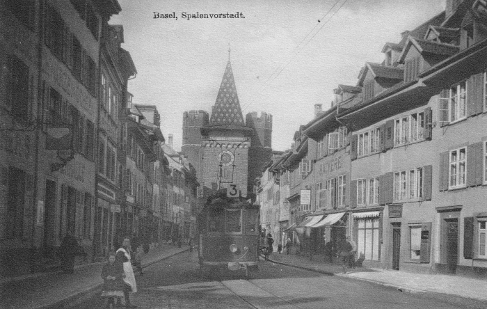 Spalenvorstadt um 1920