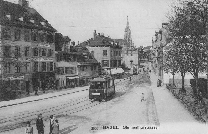 Steinentorstrasse um 1904