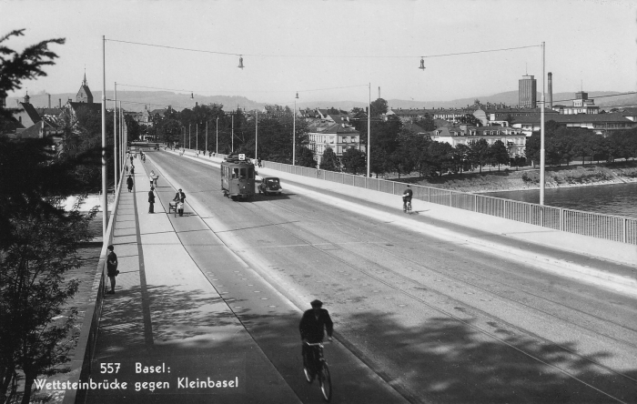 Wettsteinbrücke um 1940