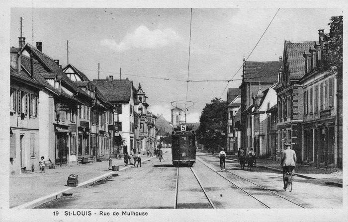 Rue de Mulhouse um 1928