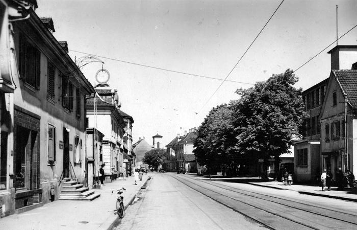 Rue de Mulhouse um 1948