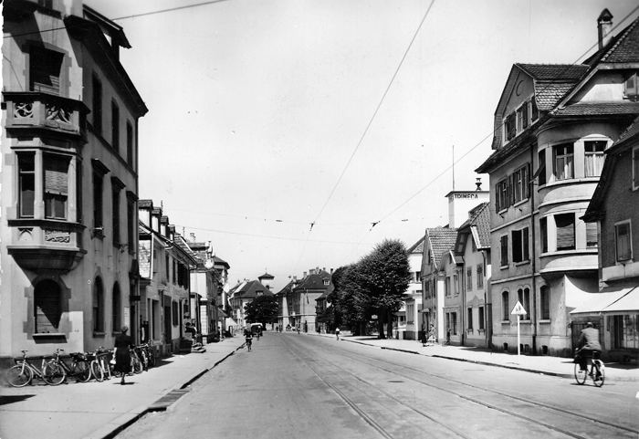 Rue de Mulhouse um 1955