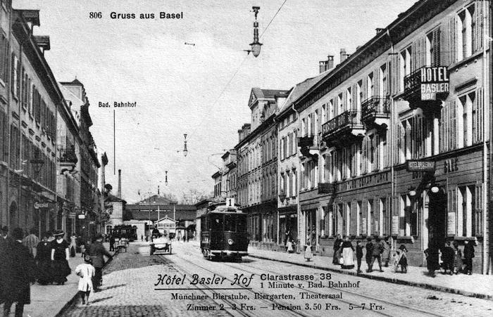 Clarastrasse um 1912