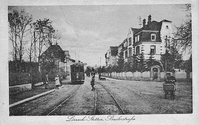 Basler Straße um 1922